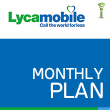 Lycamobile Monthly Plan - RTR